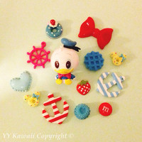 Custom Donald Duck Sweets and chocolates decoden phone case for iPhone 4/4s 5, Samsung Galaxy S2 S3 S4 Mini and Note