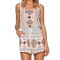 MINKPINK Space Cowboys Playsuit in White
