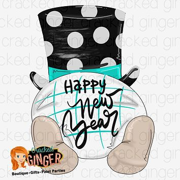 New Years Baby Bum Cutout and Kits