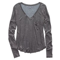 Aerie Waffle T-Shirt, Iron Heather | Aerie for American Eagle