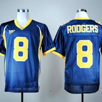California Golden 2016 College Football Jerseys NCAA 8 Aaron Rodgers Jersey Men Team Color Navy Blue Fashion Breathable Embroider Logo