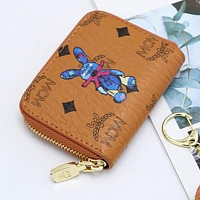 MCM New Product Fully Printed Letters Cartoon Printed Square Wallet Zipper Clutch Bag