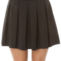 LA Boutique Skirt Pleated Truth in Black