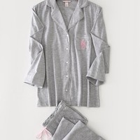 2016 Exclusive New Arrival VS Cotton Woman Night Pajamas Sexy Nightwear Grey Color SW1065
