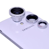 Zhizhu Manget 3 in 1 Fisheye Lens and Wide Angle and Micro Lens Photo Kit Set for iPhone5S iPhone5C iPhone 4 4S 5 Galaxy S2 S3 S4 Note 1 2 HTC One M7