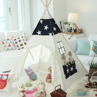 Star teepee tent children play tent