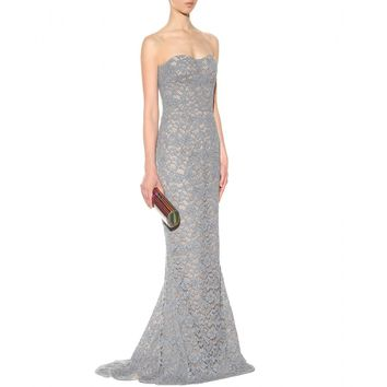 Dolce & Gabbana STRAPLESS PIPED-LACE GOWN