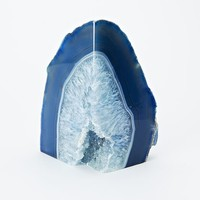 Agate Bookend, Blue