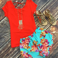 It's a Casual Day Criss Cross Top: Red Orange