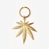 Missguided - Gold Leaf Key Ring