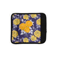 "Anneline Sophia ""Summer Rose Yellow"" Purple Lavender Luggage Handle Wrap"