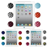 Skque Premium Home Button Stickers for Apple the new iPad 2/iPad 4/iPhone/iPod, in Cute Skulls,6 colors and Polka Dots Patterns:Amazon:Computers & Accessories