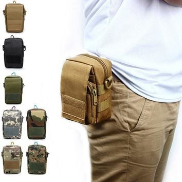 Men's Tactical Bags  Cell Phone Pocket Waterproof  Multifunction Outdoor Camouflage