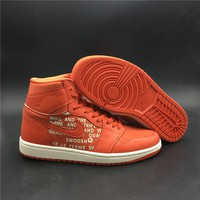 "Air Jordan 1 ""Orange"" basketball shoes/555088-800"
