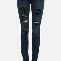 Women's Joe's Destructed Mid Rise Skinny Jeans ,