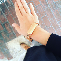 Classic Gold Bracelet with ID Tag for Fitbit Flex