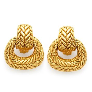 Monterey Doorknocker Clip-On Earrings