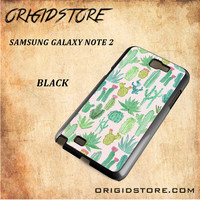 Cactus Snap On Samsung Galaxy Note 2 Case 3D Samsung Galaxy Note 2 Case Transparent Case