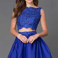 Two Piece Homecoming Dress 6054