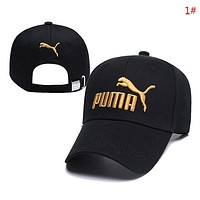 PUMA New fashion embroidery letter couple cap hat 1#