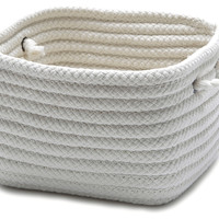 Simply Home Square Basket, White, Storage Baskets