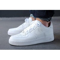 NIKE Trending Women Men Leisure Running Sport Casual Shoes Sneakers Air force White I