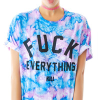 Kill Brand Fuck Everything Cotton Candy Tee Tie Dye