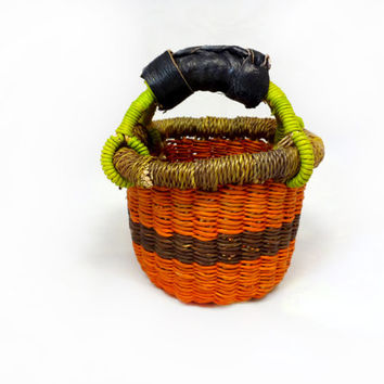 Miniature Grass Basket - Handmade in Bolgatanga, Ghana West Africa