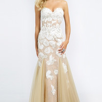 Jovani 88894 Lace Applique Mermaid Prom Wedding Dress SALE