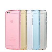Crystal Clear Transparent Soft Silicon 0.3mm TPU Case for iPhone 6 4.7inch Cases Cover for iphone 6