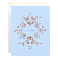 Botanical Baby Blue Card