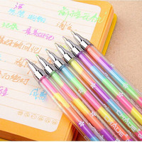 Awesome 1X Cute Highlighter Pen Marker Stationary Point Pen Ballpen 6Color AU3C