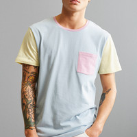 UO Standard Fit Colorblock Pocket Tee   Urban Outfitters