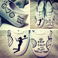 Keep Calm and Play Volleyball ON VANS- Made to Order