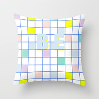 Be Windowpane Grid Throw Pillow by Vasare Nar