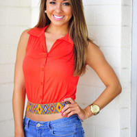 Take Me With You Crop Top: Orange   Hope's