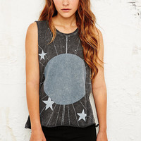 Glitter Moon Tank in Grey - Urban Outfitters