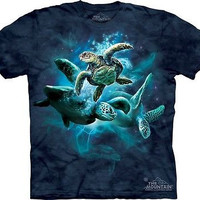 Sea Turtle Collage Kids T-Shirt
