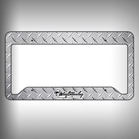 Diamond Plate Custom Licence Plate Frame Holder Personalized Car Accessories