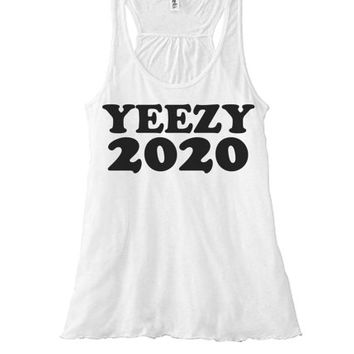 Yeezy For 2020 Womens Racer Back   Yeezy Presidential Campaign   Vote For Pedro and Yeezy   My President is Black   D. Trumps Running Mate