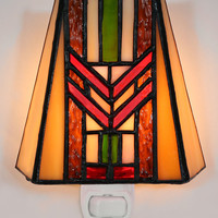 Mission Stained Glass Night Light 1663
