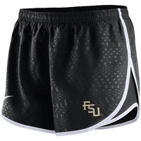 Florida State Seminoles Nike Women's Modern Tempo Performance Shorts - Black