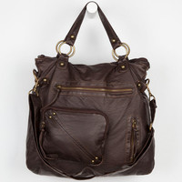 T-Shirt & Jeans Front Pocket Tote Bag Chocolate One Size For Women 19440840201