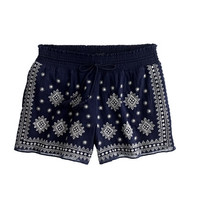 J.Crew Womens Embroidered Mosaic Pull-On Short