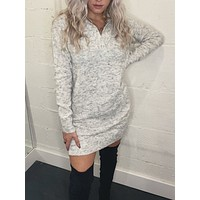 Lauren Sweater Dress - Grey