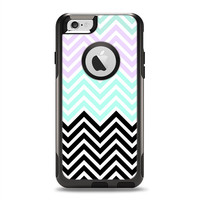 The Light Teal & Purple Sharp Black Chevron OtterBox Commuter Case Skin Set (Other Models Available!)