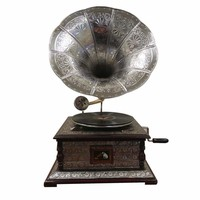 Antiqued Gramophone Traditional Style