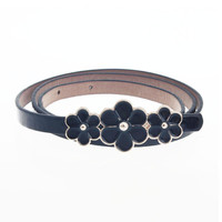 SIF fast delivery !5 color hot fashion Gift Women PU Leather Belts Luxury New Designer flowers Belts For Women