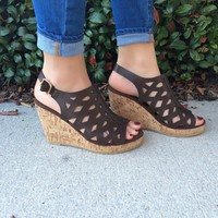 Follow Through Wedges - Brown