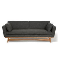FIFTIES SOFA WAVED ANTHRACITE-  RED Edition